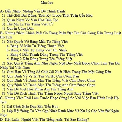 Ten Tieng Anh
