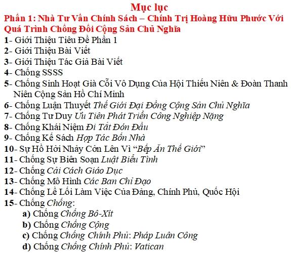Hoàng Hữu Phước Nói Về Đặc Khu Kinh Tế Việt Nam